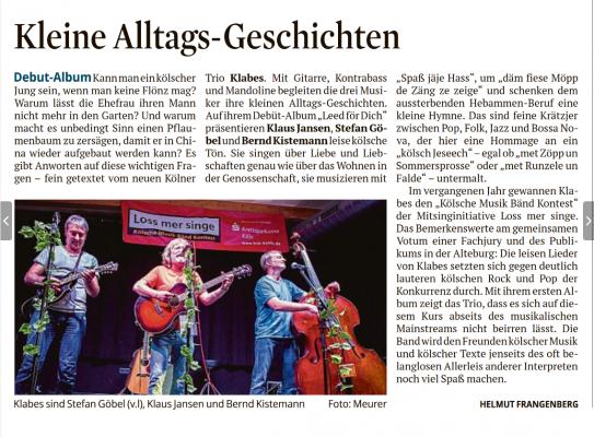 Kölner Stadtanzeiger 12.03.2020